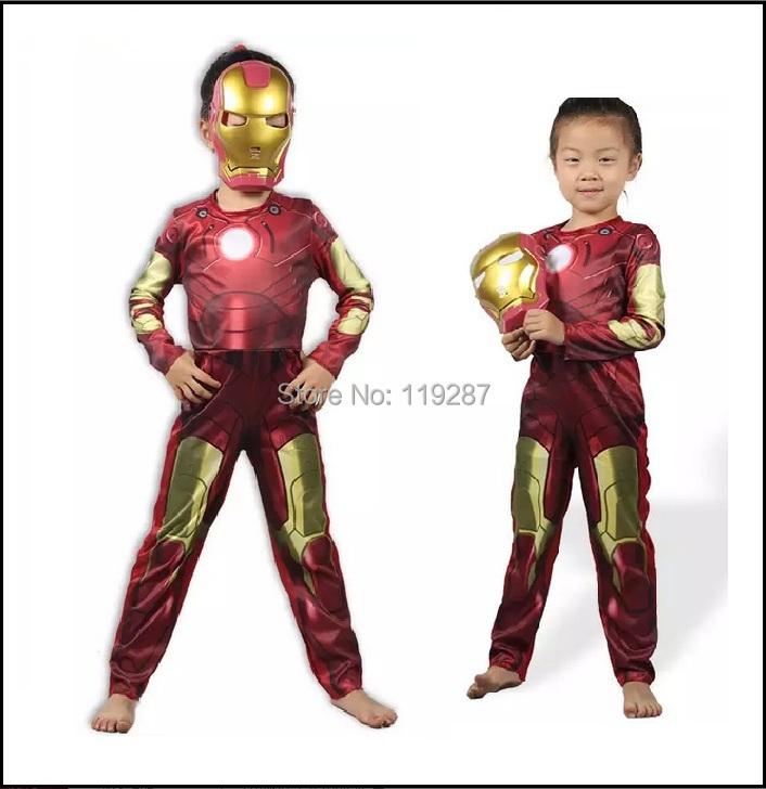 Iron Man muscle boy Costume Ironman superhero onesies for movie kids costumes for children halloween party cosplay Birthday Gift(China (Mainland))