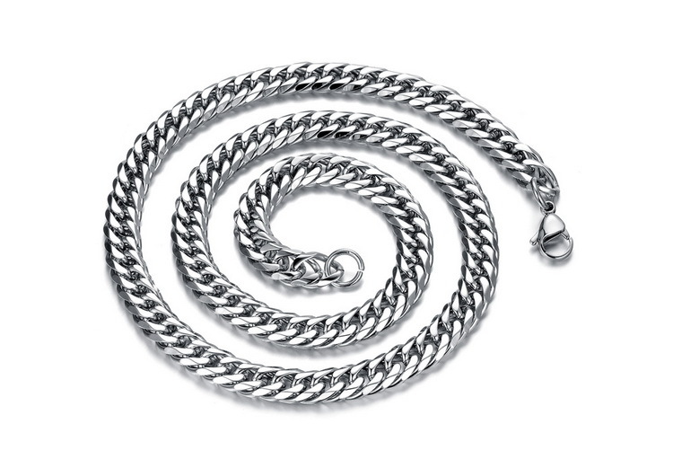 Fashion Punk Link Chain Necklaces For Man Simple Personality Stainless Steel Men Jewelry Gift 56cm Long 8mm Width(China (Mainland))