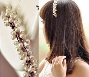 hair accessory 2012 headband sweet little pearl handmade hair bands