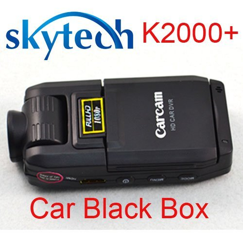 "Free shipping H.264 Full HD 1080P Car camera with 140 degree 2""LCD  K2000+"