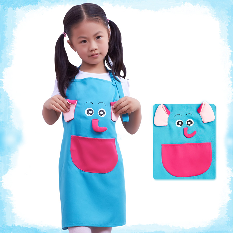Seven Lotus new flexible fiber kid cartoon apron cartoon animal patterns child apron Model:88020(China (Mainland))