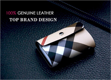 2015 Top Brand Designer Men & Women Business Credit Card Holder Bags Leather 26 Card Case ID Wallets Gift Box Package drop ship
