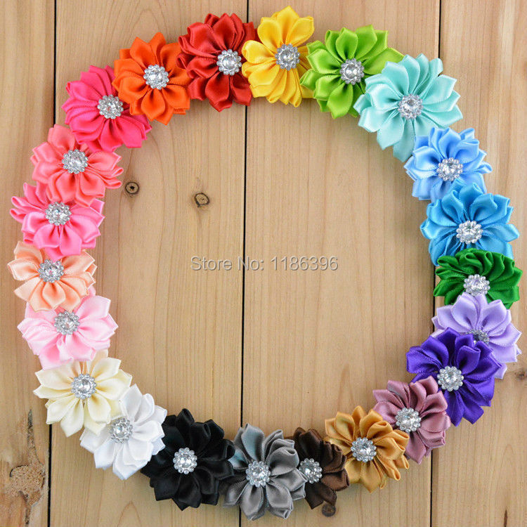 Chiffon Fabric Sun Flower Without Clip For Baby Girls Hair Accessories Hand Craft DIY 3.7cm 22colors 30pcs/lot(China (Mainland))