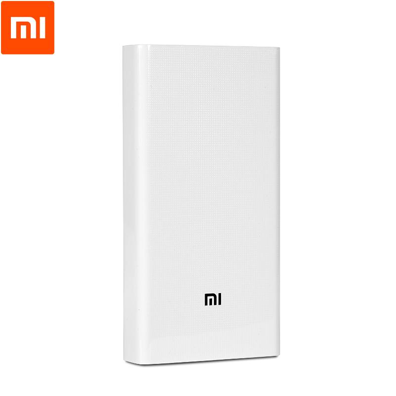 Original Xiaomi Power Bank 20000mAh Portable Charger Dual USB Mi External Battery Bank 20000 Universal(China (Mainland))
