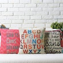 Nordic exotic alphabet Linen pillow cushion