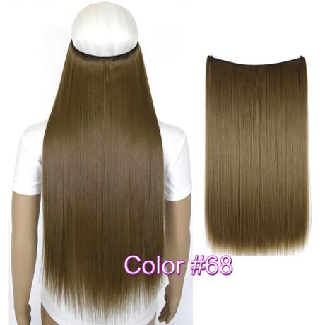 """Верхние термостойкие B5 синтетические волосы 20 """"50 см 50 г эластичность невидимая 68"""