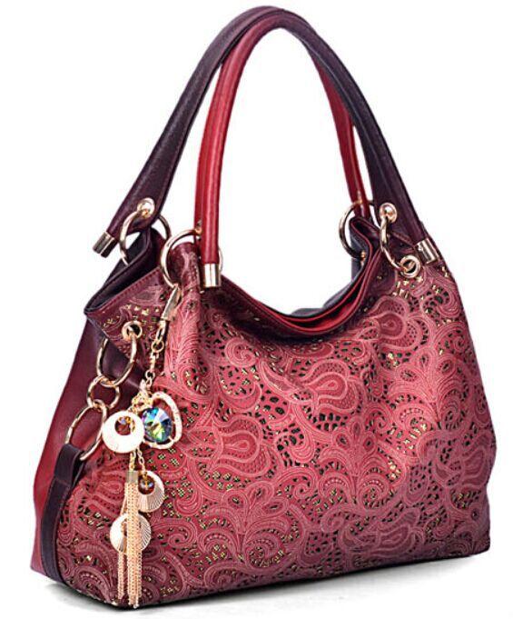 2015Luxury Handbags Women Hollow Out Large Leather Tote Bag Fashion Shoulder Bolsa Feminina Desigual Bag Ladies Sac A Main(China (Mainland))