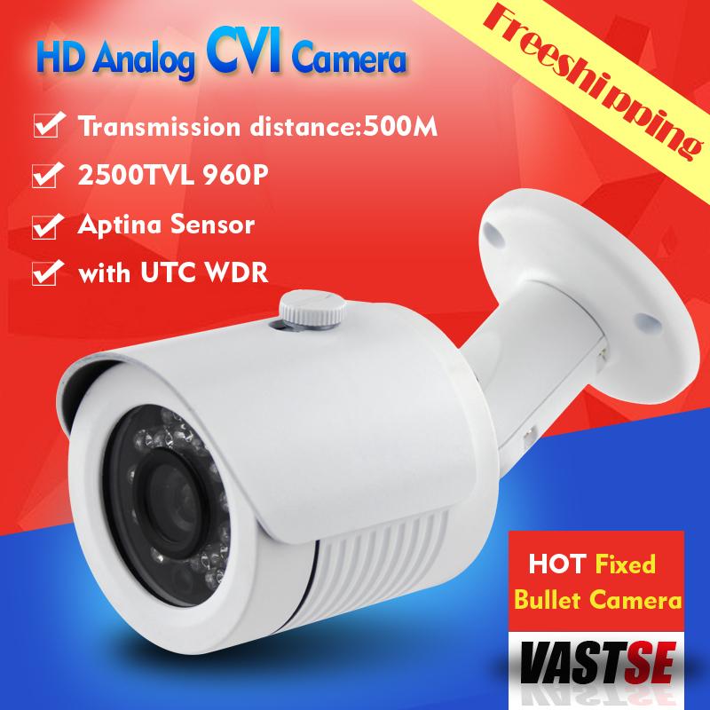 Freeshipping HD CVI camera 1/3 aptina 1.3MP 960P HD analog BNC Camera indoor/outdoor waterproof IP66 5*24IR CCTV Camera(China (Mainland))