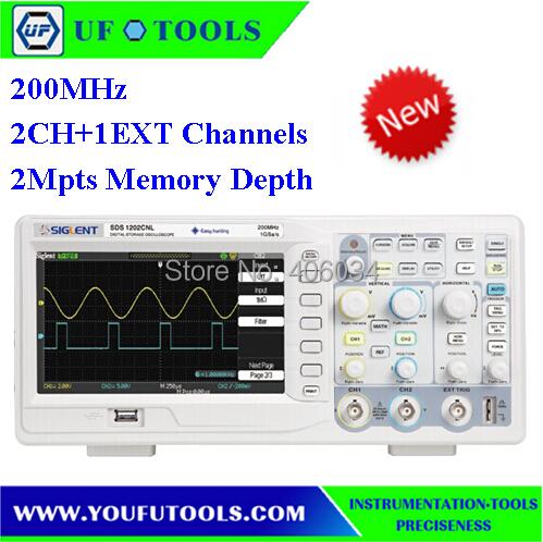 SIGLENT SDS1102CNL  Digital Oscilloscope 200MHz 2Ch 1GS/s USB 7 TFT LCD<br><br>Aliexpress