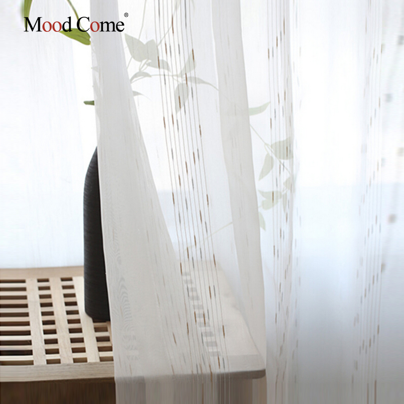 White Kitchen Curtains Door Curtains Sheer Voile Curtains for Living Room Bedroom Balcony Home Window Curtain Sheer Panel Drapes(China (Mainland))