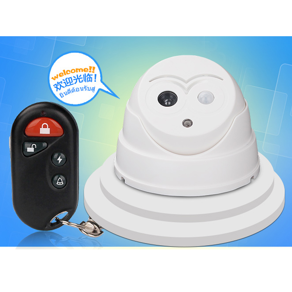 Welcome Alarm Wireless Door Bell PIR Detector with Remote controller Infrared Motion Sensors Home Security Dummy Camera #4(China (Mainland))