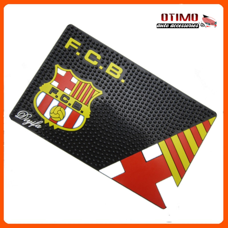 FCB Car Pad Anti Slip Resistant Mobile Cell Phone Mat Pad of barcelona Football Club Logo Slip Mat Vehicle Fone Rubber Holder(China (Mainland))