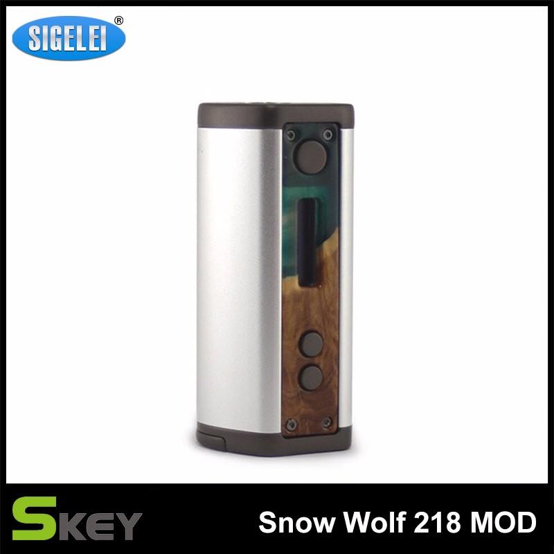 ถูก Sigelei Snowwolf 218สมัย0.1-3.0ohmปรับ10วัตต์-218วัตต์หมาป่าหิมะTCบุหรี่อิเล็กทรอนิกส์สมัยโดยไม่ต้อง18650สมัยแบตเตอรี่