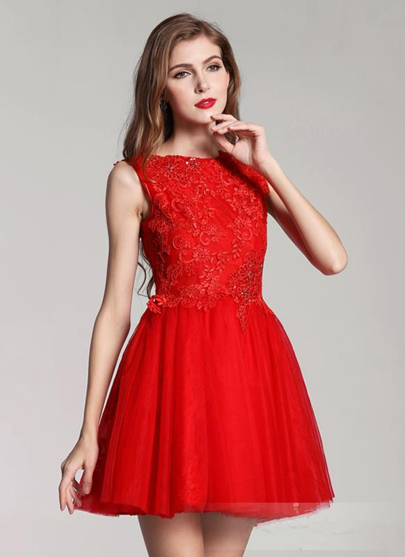 Gown types picture more detailed picture about red mini for Short red and white wedding dresses