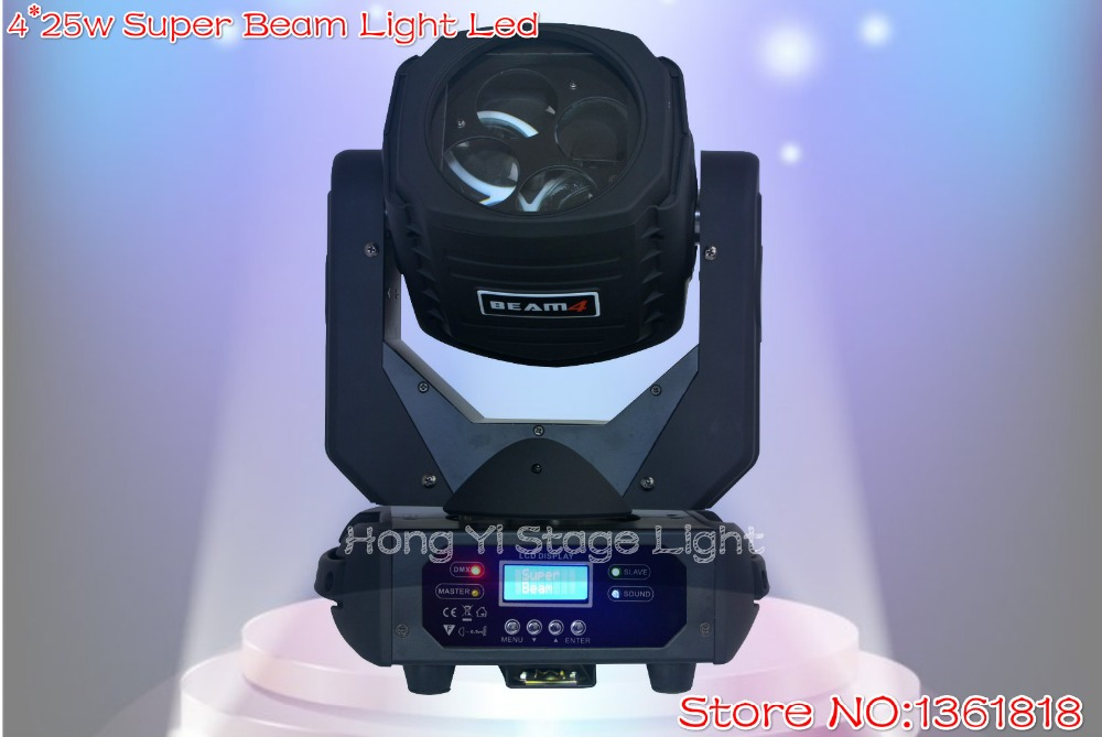 4*25w Super Beam Light Led Dmx512 Ac100-240v Moving Head Light 9/15 Channels Professional Stage & Dj/Party/Stage Lighting Effect(China (Mainland))