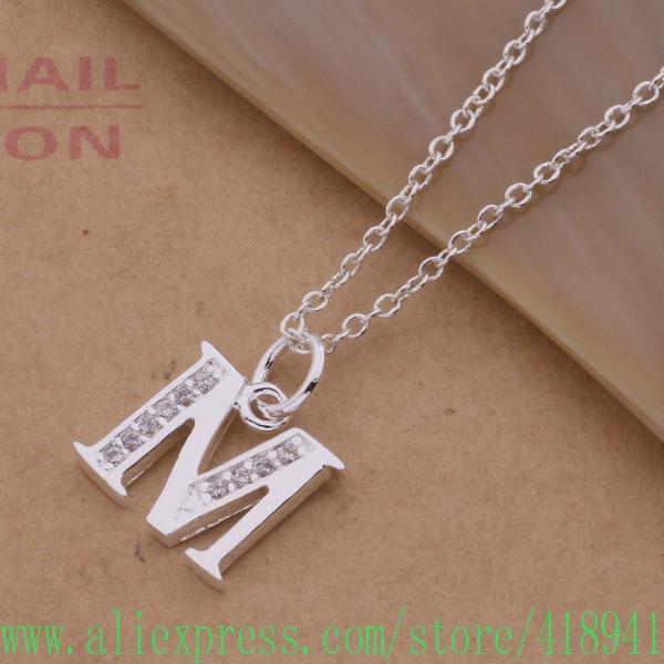 Free Shipping silver plated Necklace silver plated fashion jewelry cdpakuwa dpzamhga P M