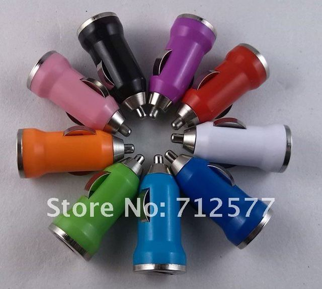 Free shopping Usb Car Charger Car Cigarette Lighter Car Charger for Cellphone Factory Price Lowest price 100pcs lot