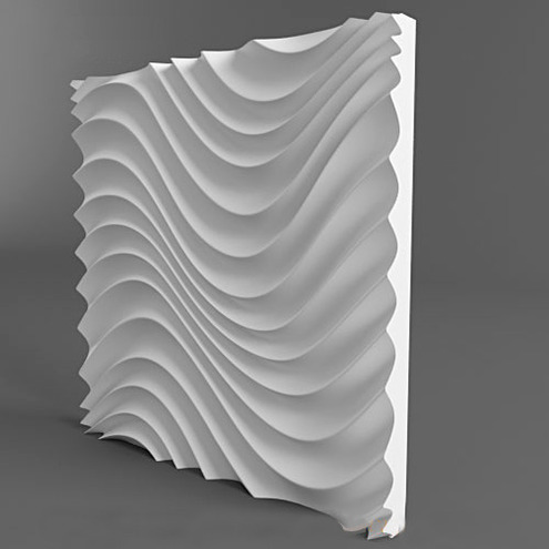 Plastic molds forms 3D decorative wall Different Design panels size 500x500x40mm(China (Mainland))