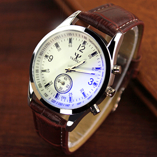 Independent Second Hand Leather Strap Watch Hot Fashion Casual Watches Analog Men Luxury Brand Sports Quartz Wristwatch 2015 New(China (Mainland))