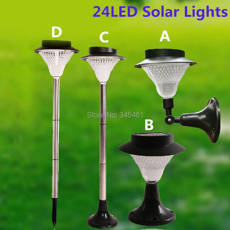 super bright 24leds solar lights decor garden lamp solar street light. Black Bedroom Furniture Sets. Home Design Ideas