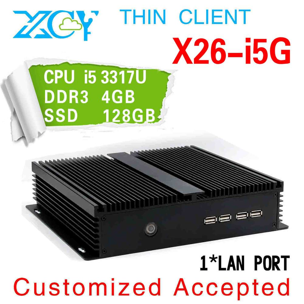 The cheapest X26-I53G 3317u 4*COM PORTS 4G DDR3 128G SSD without fan pc mini computers car pc win7 dual core computer(China (Mainland))