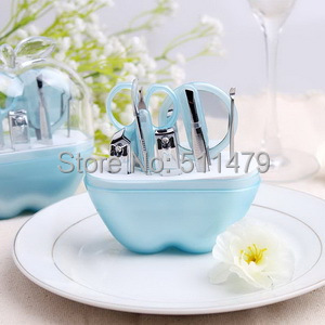 ARRIVAL++Fashionable Style Blue Apple Design Manicure Set Bridal Shower Favors+100sets/lot+ - Perfect Wedding Favors Co.,Ltd store