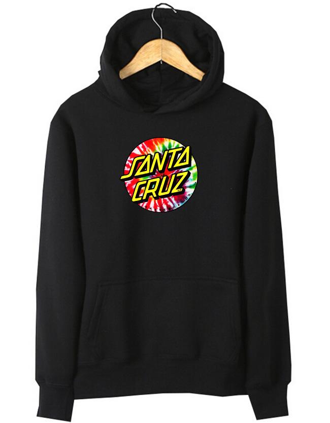 Cotton man women boy girl unisex Skateboard Skate Santa Cruz sport Hiphop Hip hop Hoodies jersey sweatshirt hiphop street Top(China (Mainland))