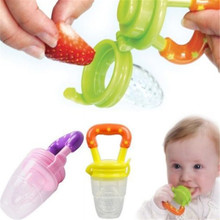 1 PC New Nipple Fresh Fruit Pacifier Food Milk Nibbler mamadeira Feeder Feeding Tool Bell Safe Baby Bottles 3 Size