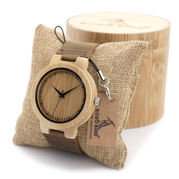 2016 New Fasion japanese miyota 2035 movement wristwatches genuine leather bamboo wooden watches with gift box relogio masculino