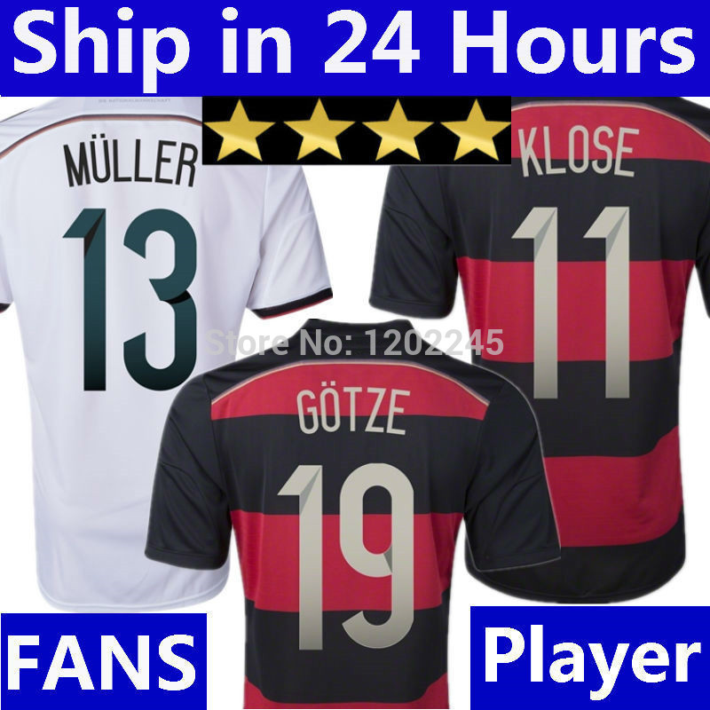 4 Stars GOTZE KLOSE Germany Jersey 2014 Germany World Cup LAHM OZIL Shirt Alemanha REUS Home White Germany Black Away Champions(China (Mainland))