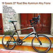 "Excelli Mini Bicicleta 18 Speeds 20"" Road Bike Aluminium Alloy Frame KENDA20""*1.1 Tire  2 BEARING Hub Road Bicicletas only 10kg (China (Mainland))"