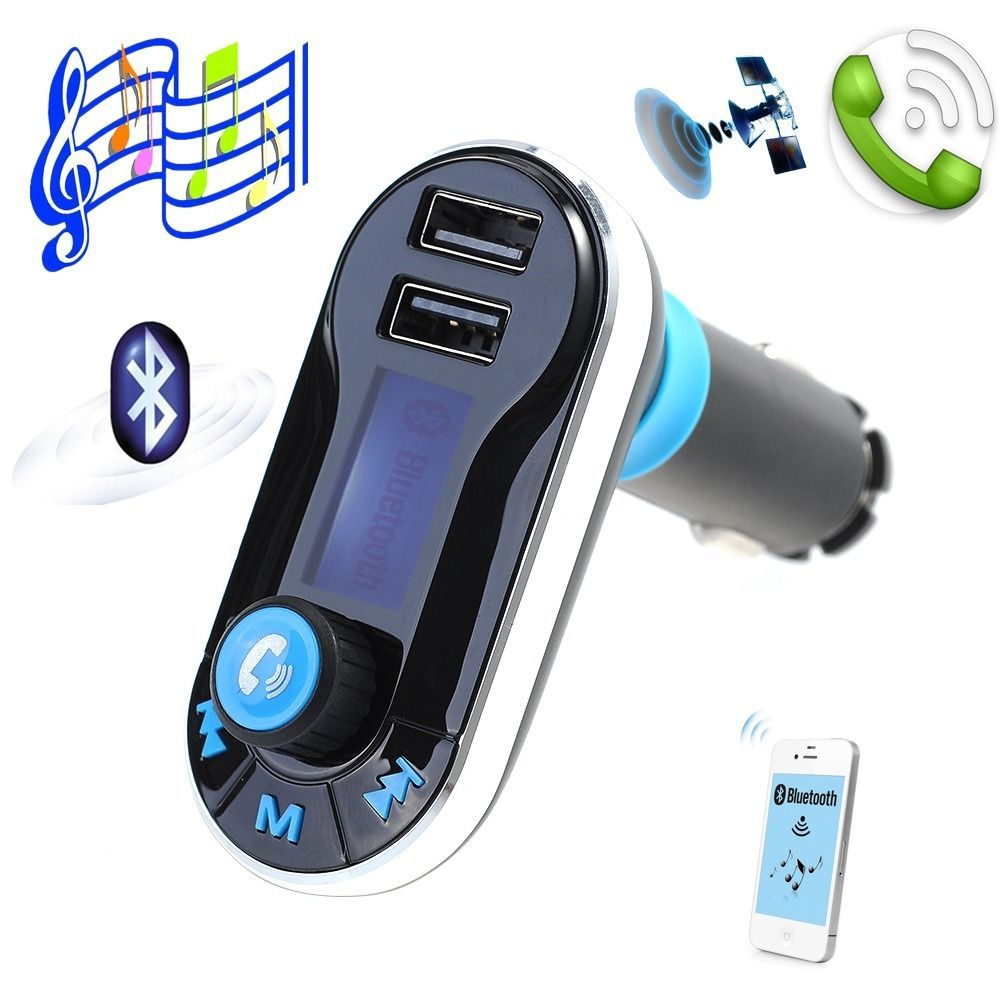 store product Wireless Car MP Player FM Transmitter Dual USB SD LCD Charger Kit Bluetooth For iPhone
