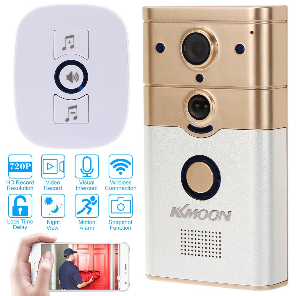 KKmoon 720P WiFi Visual Intercom Door Phone Wireless Doorbell Infrared Night View Rainproof Lock Time Delay PIR Motion Detection(China (Mainland))