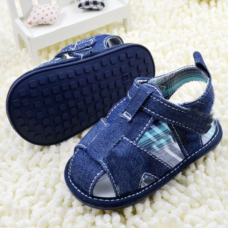 Baby Sandals Shoes First Walkers Solid Cotton Toddler infant Boy Girl Shoes