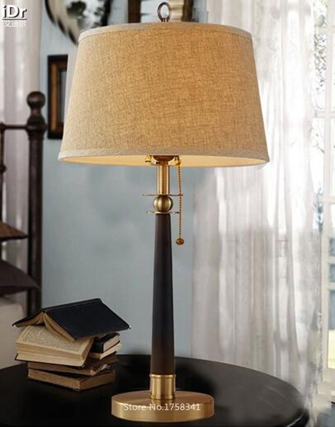 Купить Американский кантри Европейский кабинет, гостиная спальня отель настольные лампы Настольные светильники wwy-0022