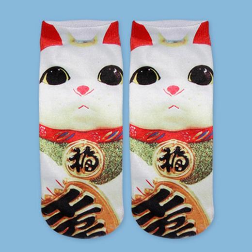 1Pair 3D Print Animal Socks Casual Cute Charactor Socks Unisex boat socks for Girls and Boys