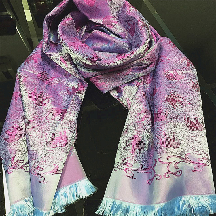 180*70CM Fashion Brand Autumn Winter High-quality Soft and Bright Thailand Elephant Jacquard Scarf Shawl Women Wraps JA9014(China (Mainland))