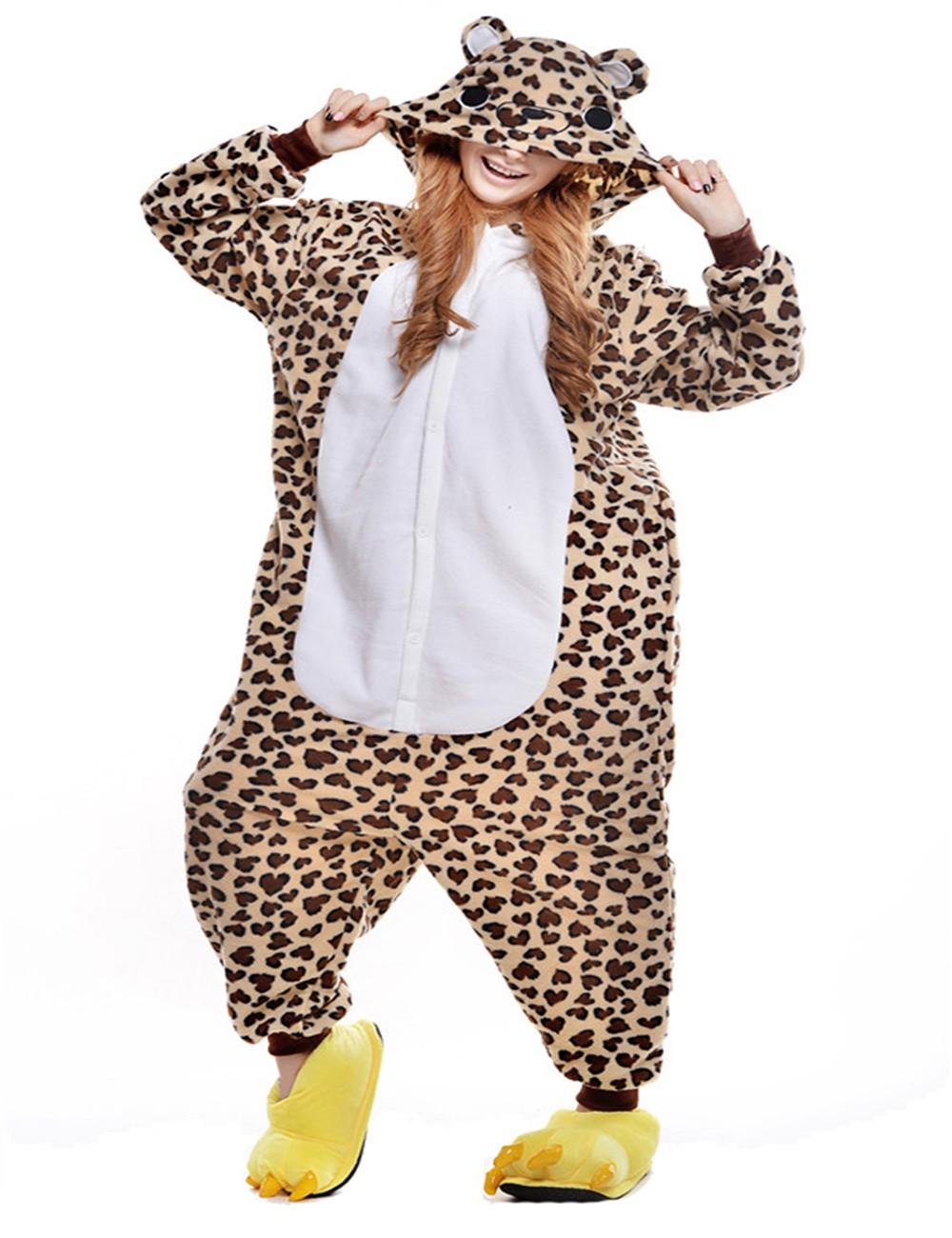 Fashion Leopard Kigurumi Unisex Adult Animal Onesies Chirstmas Pajamas Sets Halloween Costume Cosplay Onesie Hoodies HomewearОдежда и ак�е��уары<br><br><br>Aliexpress