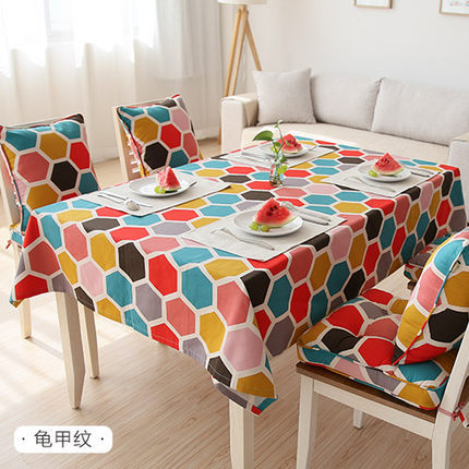 Free shipping printing Postscript Turtle shell pattern cotton tablecloths pop / canvas table cloth cover towel(China (Mainland))
