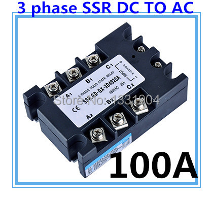 good quality DC to AC SSR-3P-100 DA 100A SSR relay input DC 3-32V output AC480V Three phase solid state relay<br><br>Aliexpress