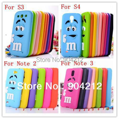 Hot selling Super Cute Lovely Cartoon MM soft Silicone mm Case Samsung Galaxy S3 S4 Note 3 4 5 - Shenzhen Pai Xin Electronic Co., Ltd. store