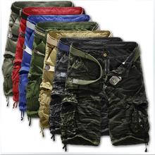 Caldo!  2015 modelli di esplosione rilassato casual camouflage cargo shorts in grandi dimensioni pantaloncini multi-tasca uomini fifthbermuda masculina(China (Mainland))