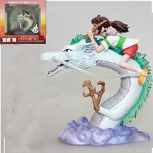 Miyazaki Japanese Anime Hayao Ghibli Spirited Away Haku Chihiro Action Figure Model Toy Brinquedos GARAGE KIT With Original Box