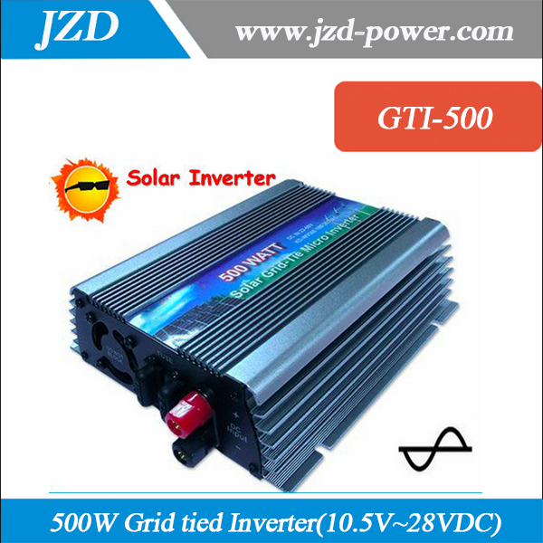 500W Grid Tie Inverter for 18V Solar Panel, MPPT function, DC 10.5~28V to AC220V50Hz Pure Sine wave Micro On Grid Tie Inverter(China (Mainland))