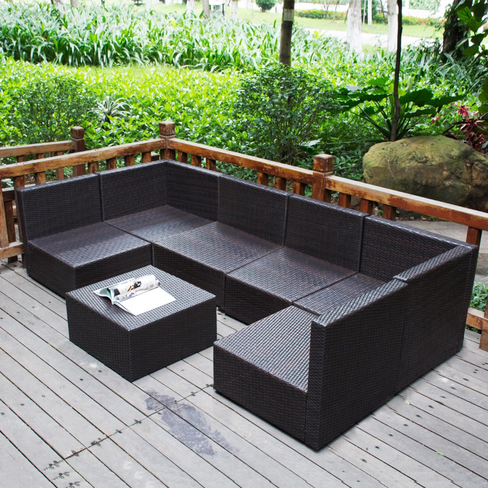 sofa couch Picture More Detailed Picture about 7PC  : 7PC Outdoor Patio Patio Sectional Furniture PE Wicker Rattan Sofa Set Deck Couch from www.aliexpress.com size 1000 x 1000 jpeg 297kB