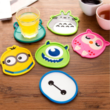1pcs Cute Anime  Silicone Coffee Placemat Cartoon Drink Coaster Cup Glass Beverage Holder Pad Mat MF76(China (Mainland))
