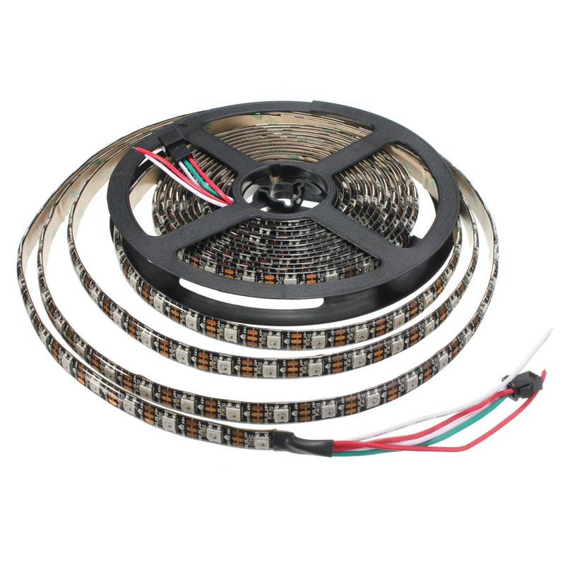 Excellent Quality WS2812B 5050 SMD RGB LED Strip Light Lamp 4M 240 Leds 72W Individual Addressable DC5V White Black(China (Mainland))