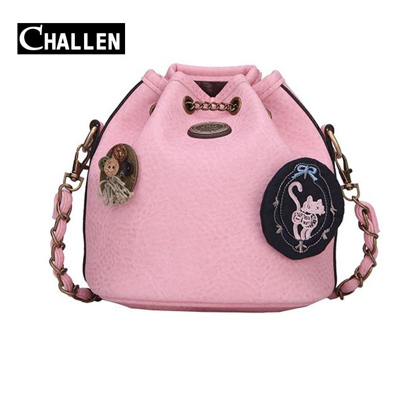 2016 logo designer chain women bag shoulder bags for girls famous brand italian leather handbag messenger bag female mini clutch(China (Mainland))