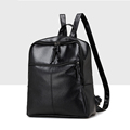 New Women PU Leather Spring Backpack Lesuire Black School Bag for Girls Back Pack Shoulder Travel