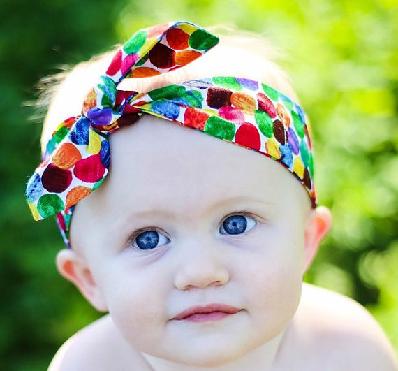 30pcs/lot The new cotton rabbit ears headband baby girl accessories knot headwrap children rose flower elastic Turban headbands(China (Mainland))